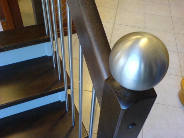 Boules Suspension Escalier : Boule inox aspect emerisé