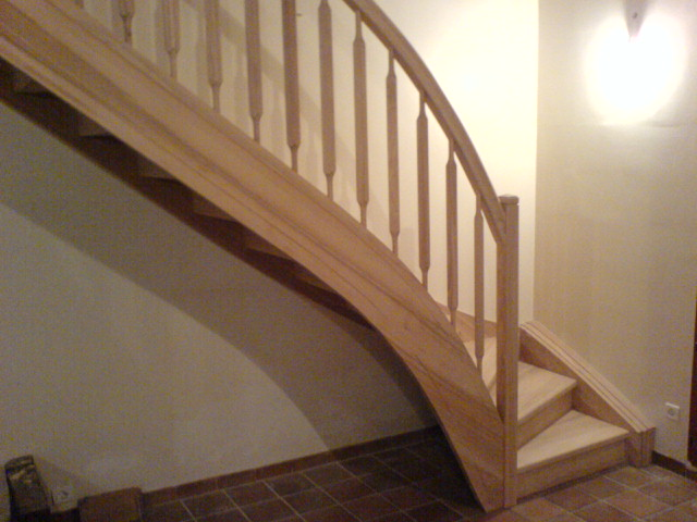 escalier quart tournant frene