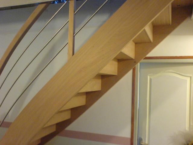 escalier en bois sur mesure fabrication vosges