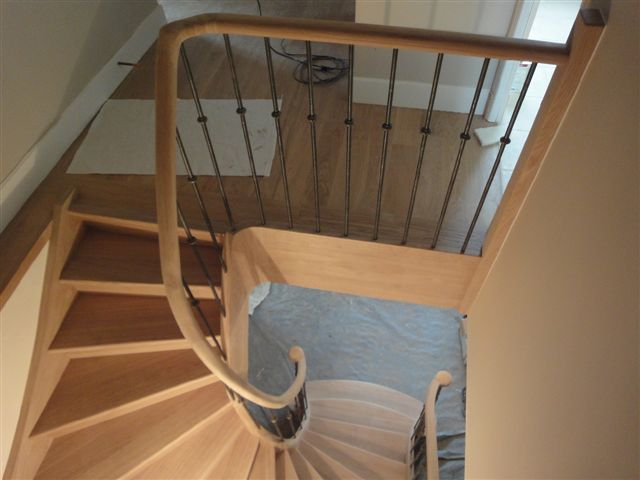 D billard pilastres fonte main courante olive - Escalier debillarde ...