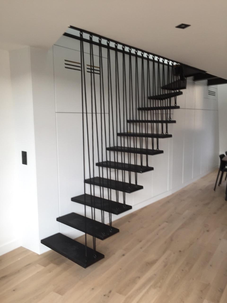 Escalier Bois Metal Noir escaliers deparis 77 - escaliers en bois sur mesure ile de